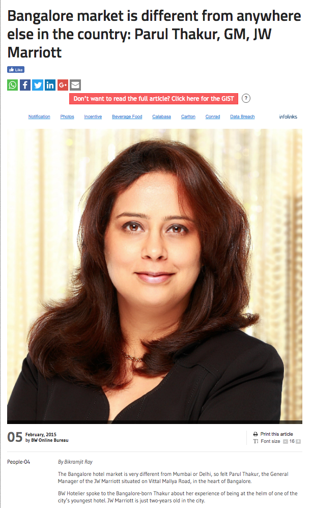 professional head shot of JW Marriott General Manager Parul Thakur