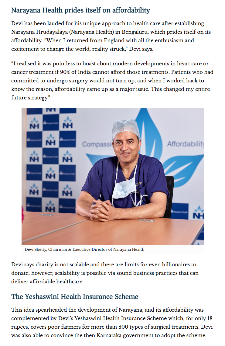 One of India's most revered heart surgeons, Dr Devi Shetty
