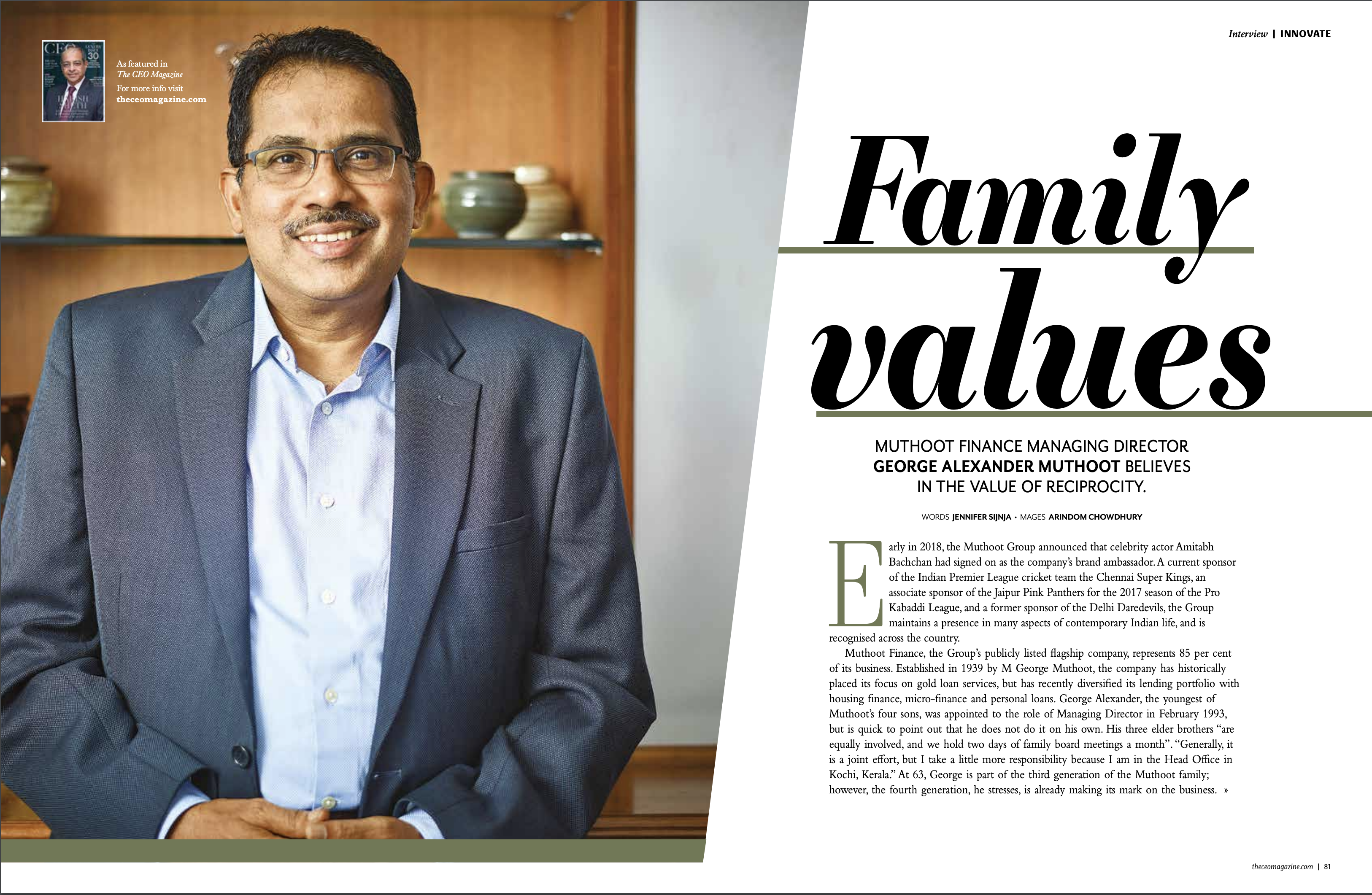 Managing Director, Muthoot Finance