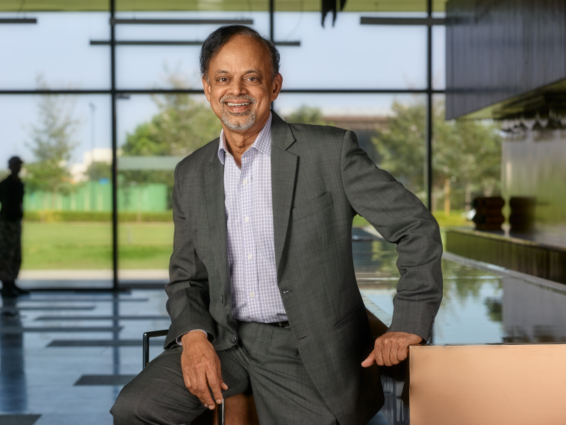 Creative headshot of CEO Raghavan