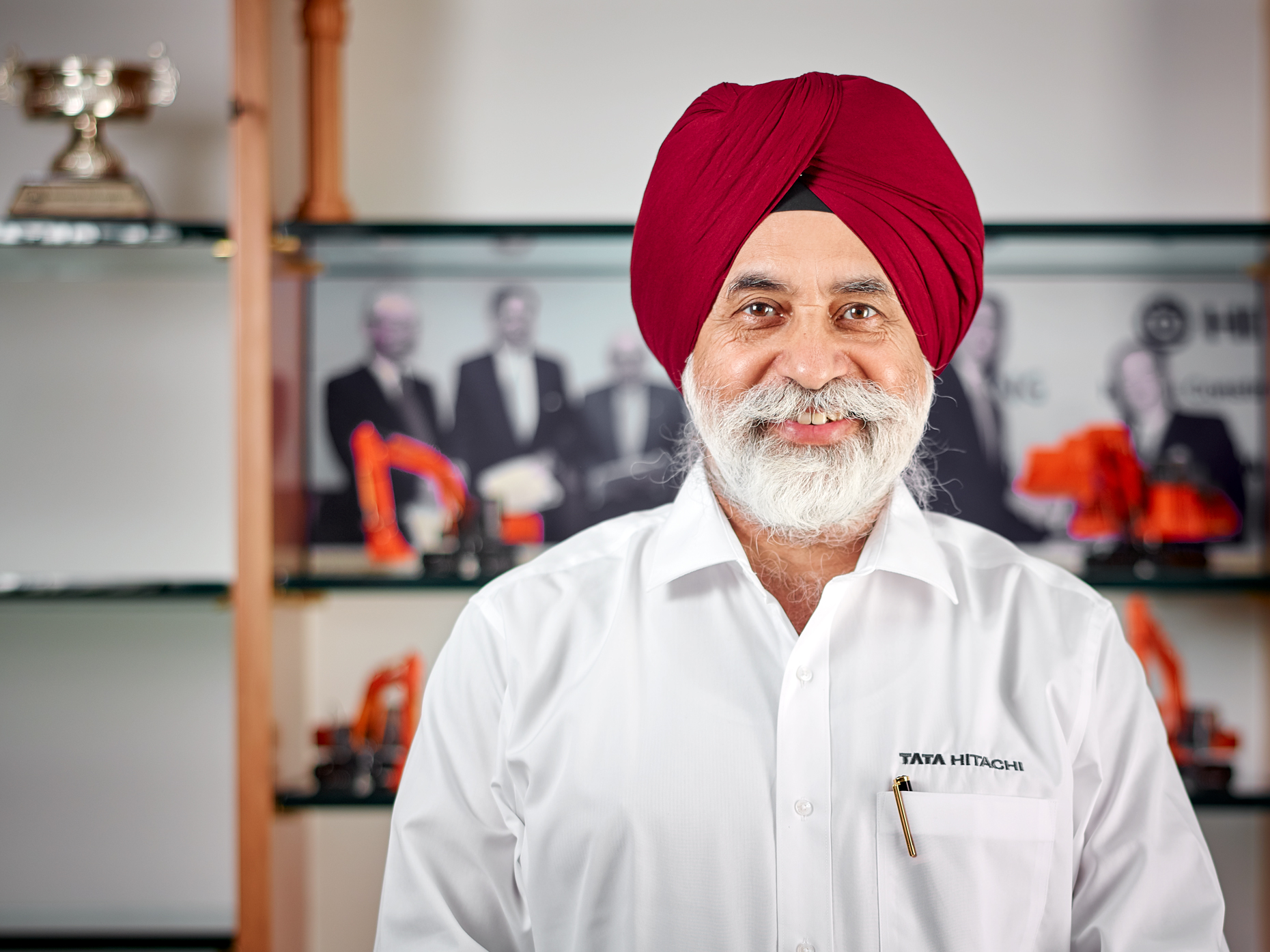 Corporate portrait of MD, Tata Hitachi