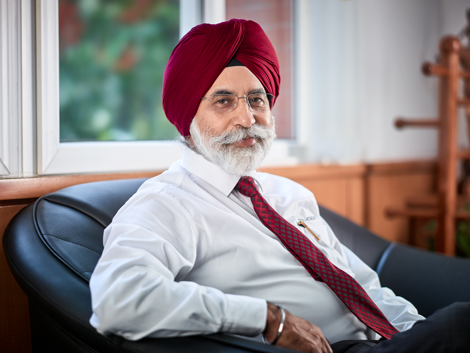 Creative portrait of Managing Director of Tata Hitachi