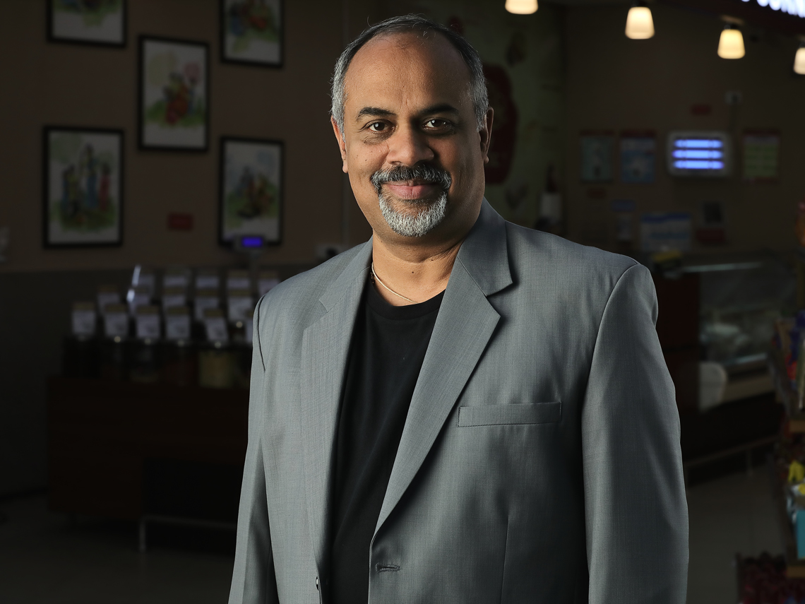 Corporate Portrait Shoot SPAR HyperMarket India CEO Rajeev Krishnan